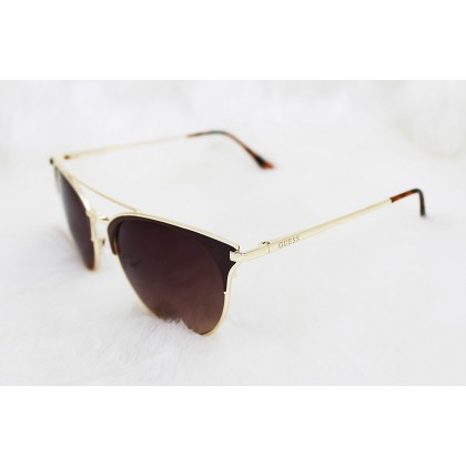 Guess Wired Cat Eye Brown Sunglasses