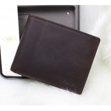 Fossil Adam Flip ID Men Wallet Dark Brown