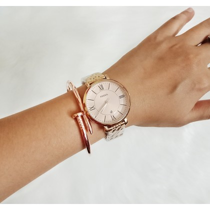 Fossil ES3435 Jacqueline Stainless Steel Watch Rose Gold