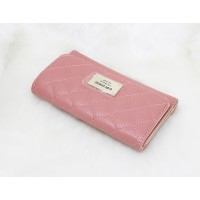 Guess Lourdes Quilted Slim Women Wallet Rose Blush