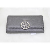 Guess Kamryn Metal Logo Wallet Grey
