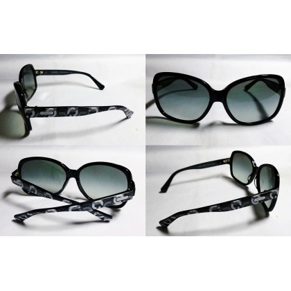 Coach Perri Rectangle Black Sunglasses