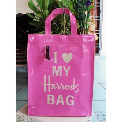 Harrods I Love My Harrods Bag Pink