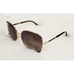 Jessica Simpson Glam Square Sunglasses Brown/Rose Gold