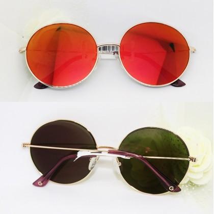 Guess Retro Round Mirrored Sunglasses Bordeaux/Black