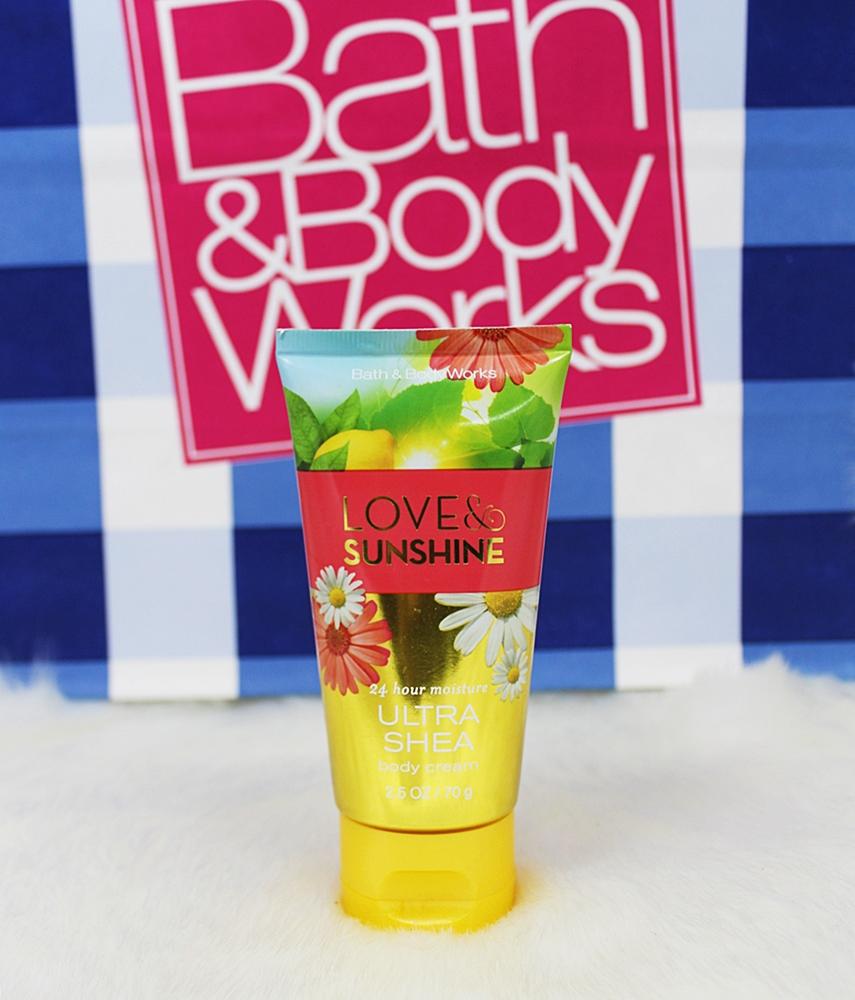 Bath & Body Works Love & Sunshine Travel Body Cream