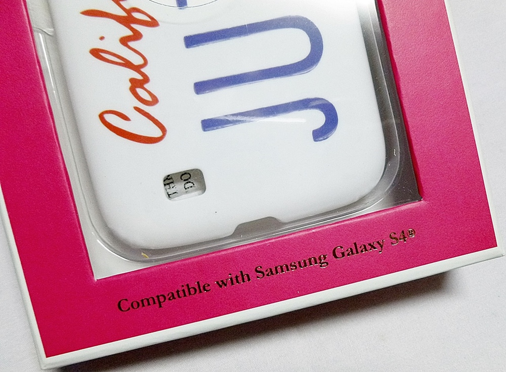 Juicy Couture Samsung S4 Phone Case California Plate