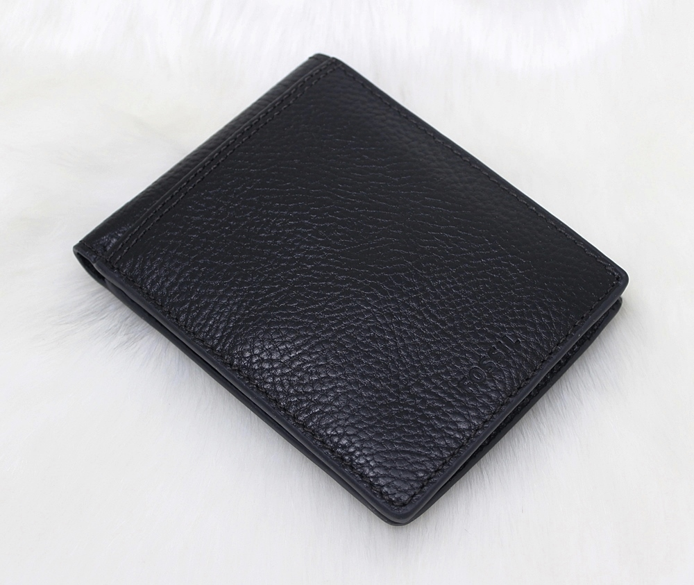 Fossil Tyler RFID International Coin Wallet Black