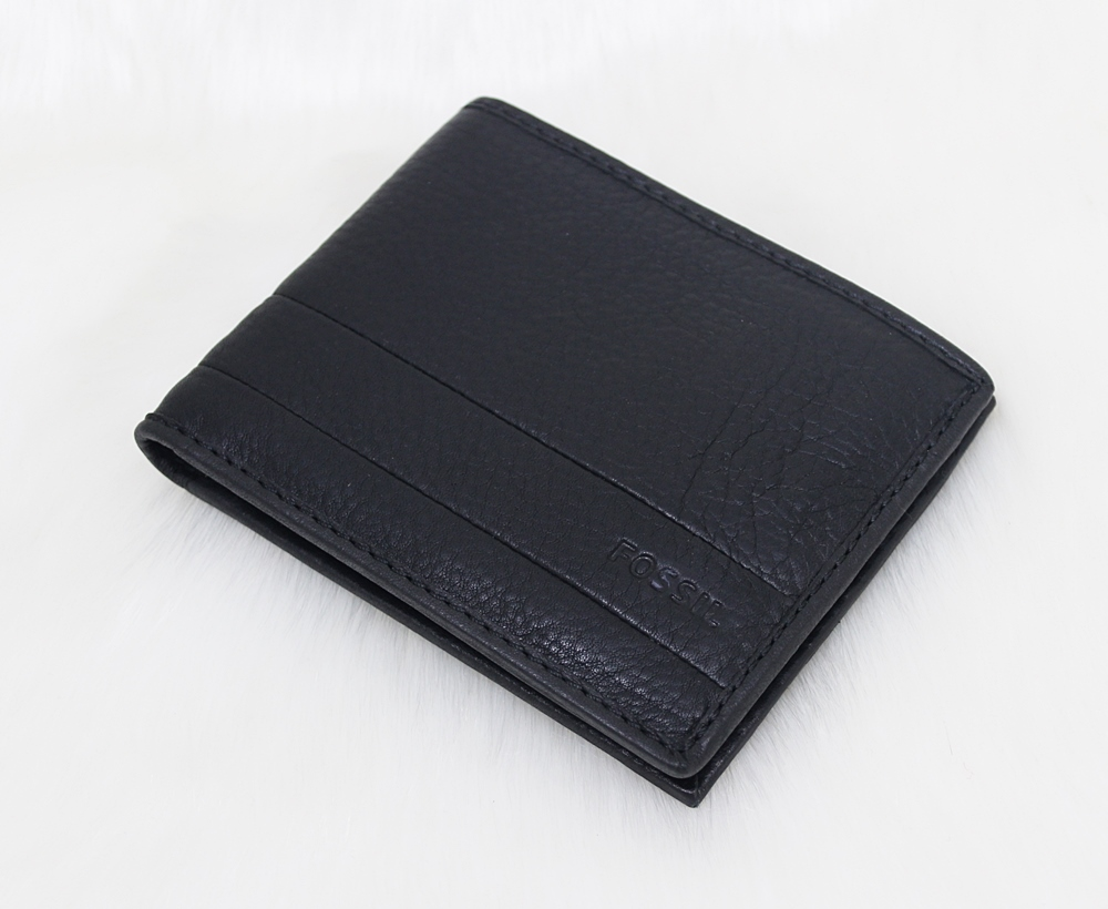 Fossil Lufkin Bifold Men Wallet Black