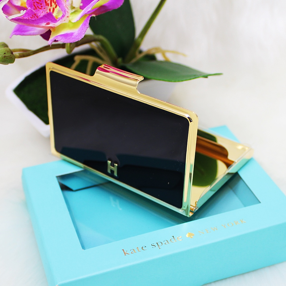 Kate Spade Business Card Case Holder H Black