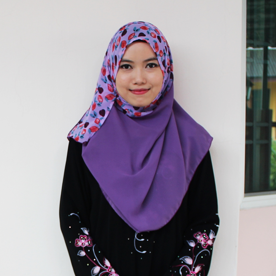 Deyla Instant Shawl Mauve Purple with Flower Print