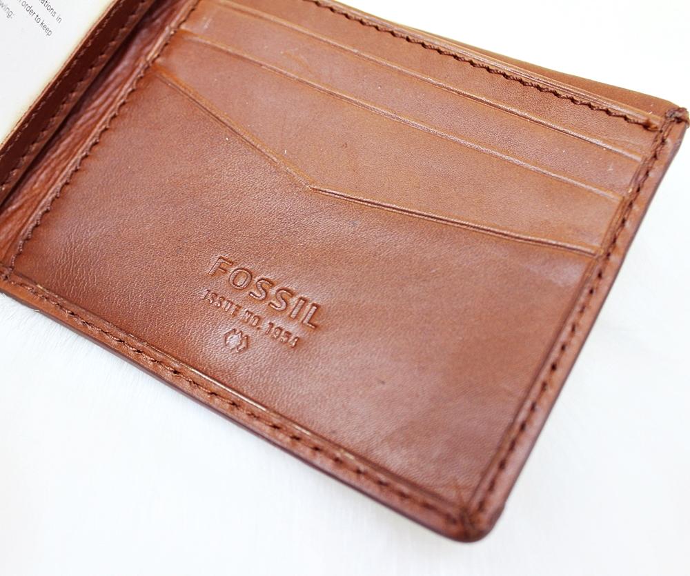 Fossil Carter RFID Traveler Men Wallet Cognac