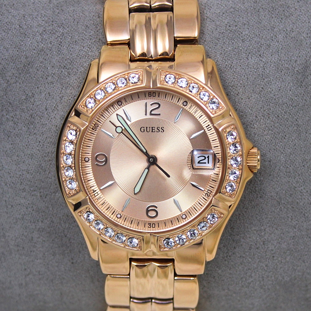 Guess U11069L1 Dazzling Crystal Rose Gold Watch