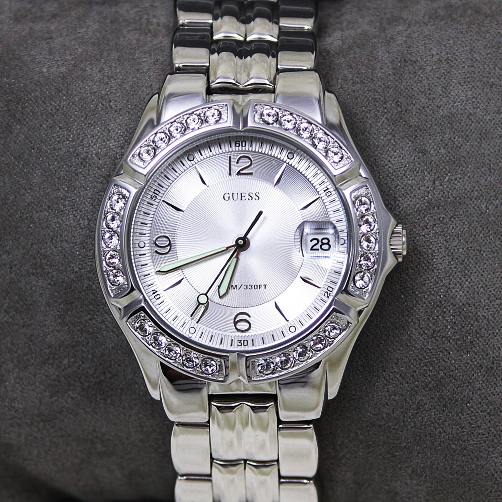 Guess G75511M Dazzling Crystal Silver Watch