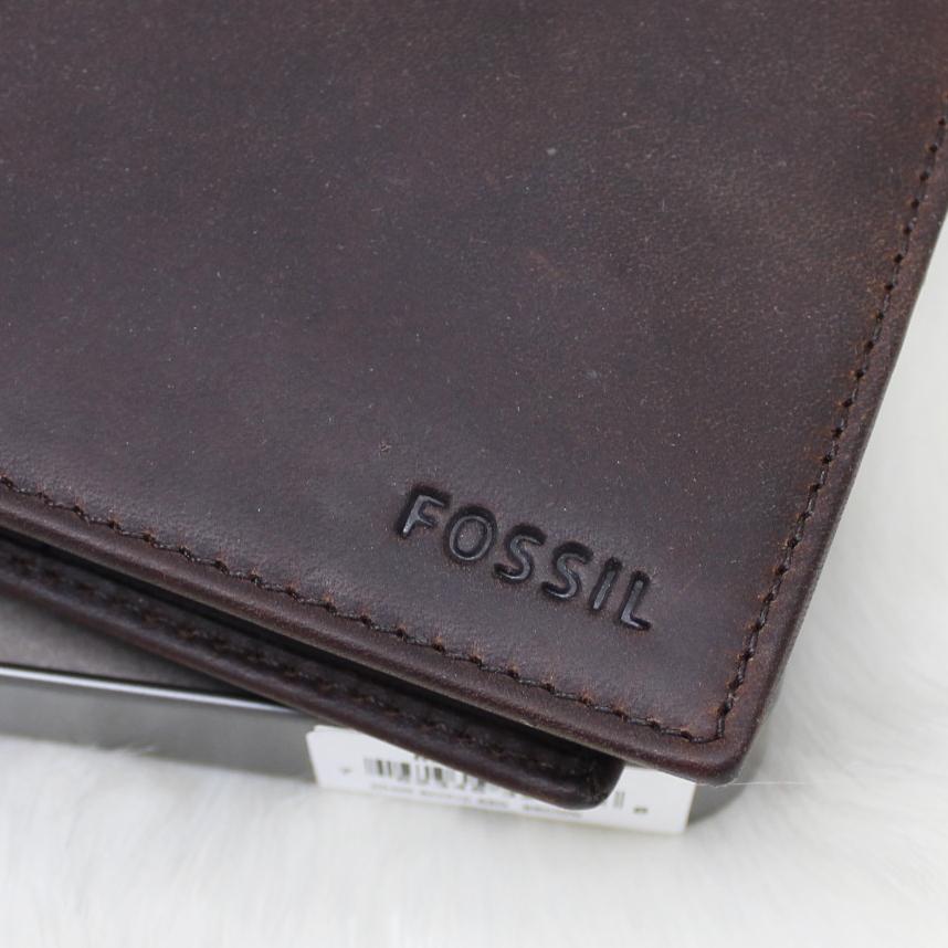 Fossil Adam Flip ID Men Wallet Dark Brown