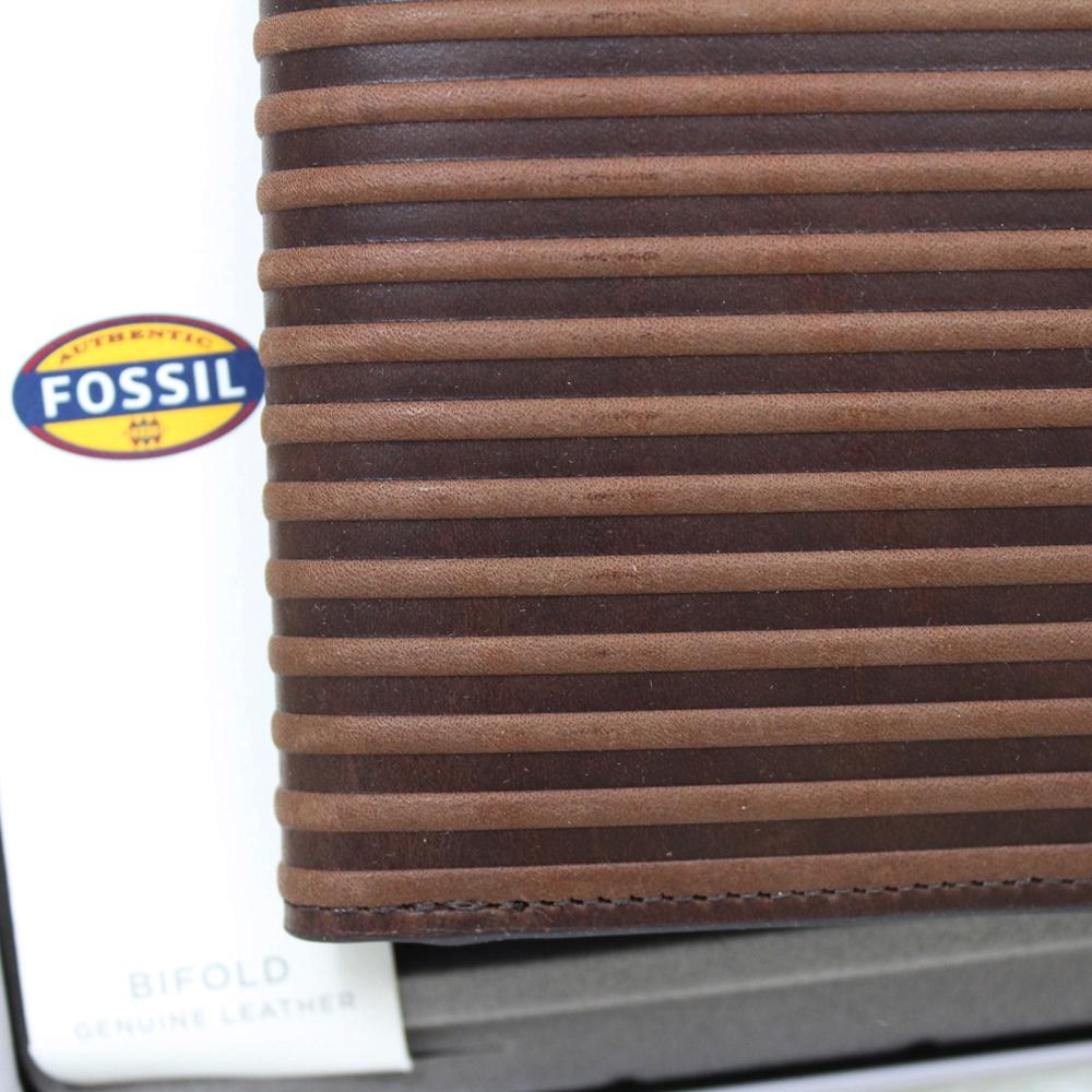 Fossil Avery Bifold Men Wallet Dark Brown