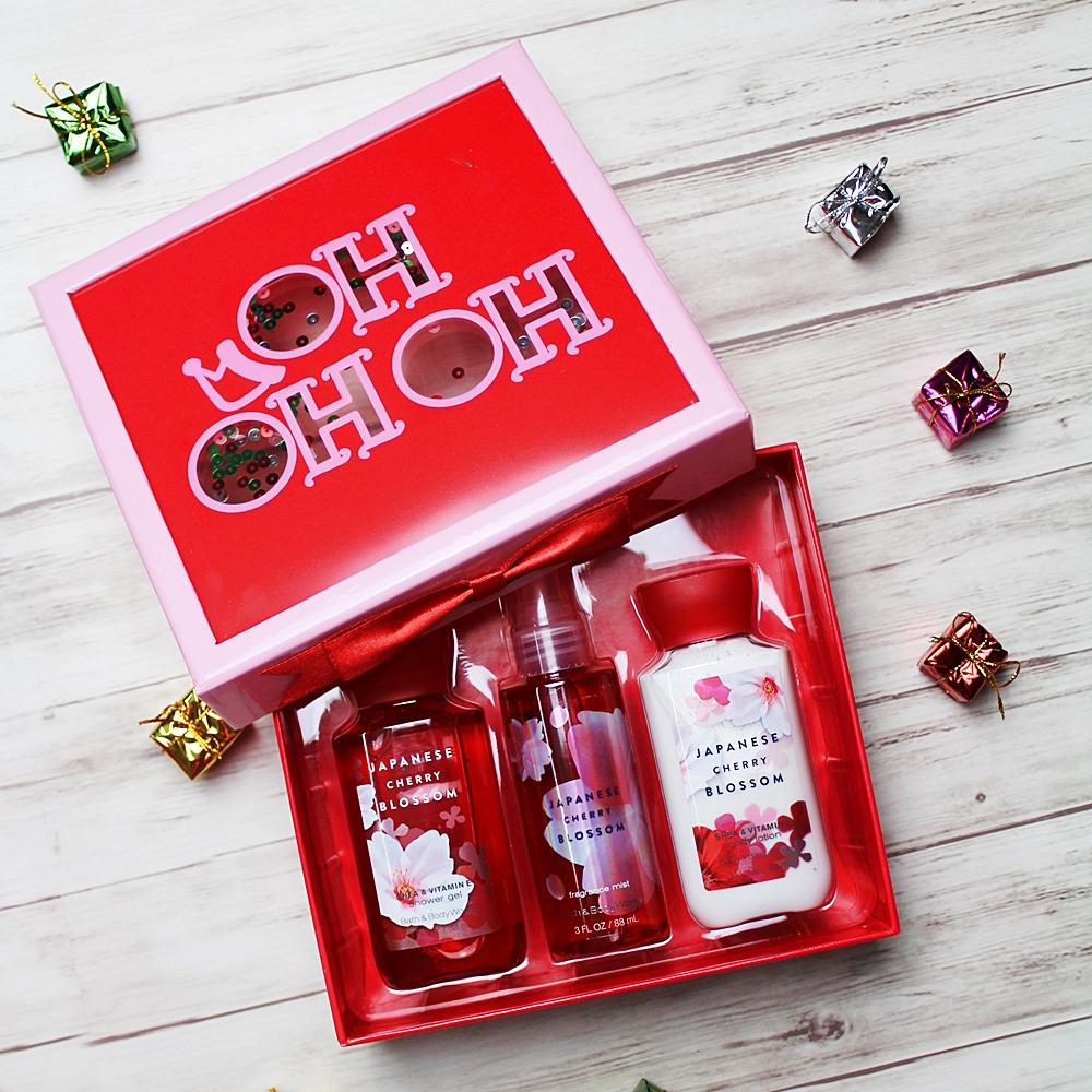 Bath & Body Works Japanese Cherry Blossom Trio Gift Set