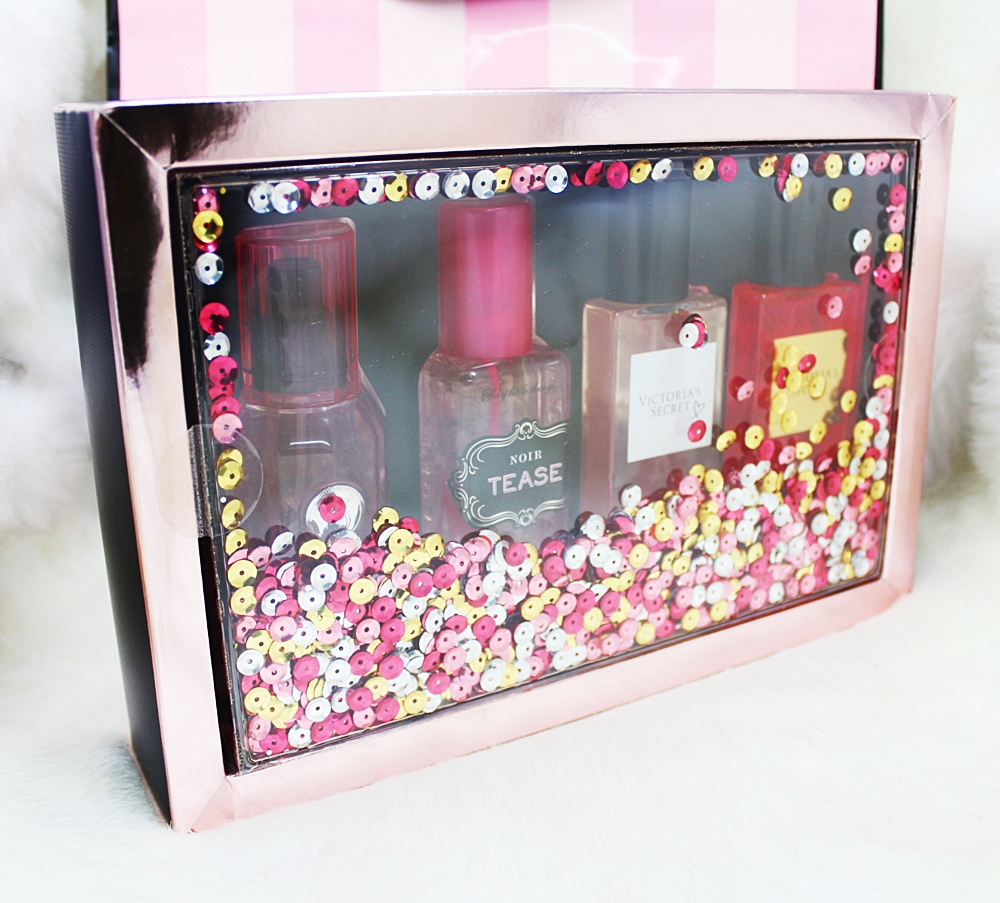 Victoria's Secret 4pc Travel Fragrance Mist Gift Set Box