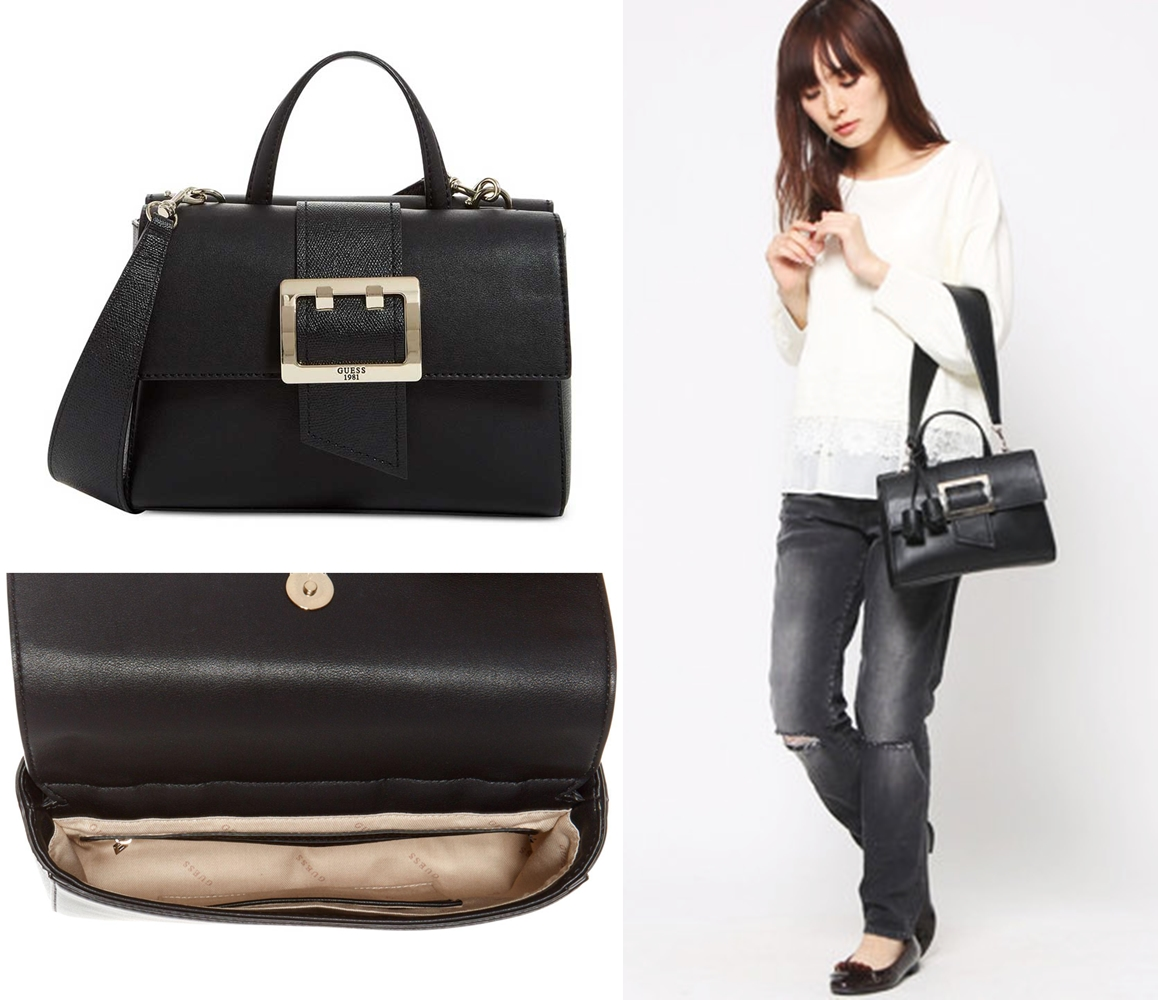 Guess Tori Top Handle Black Shoulder Bag