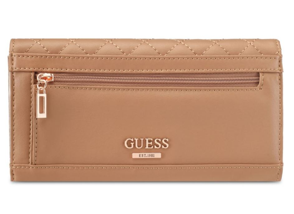 Guess G Lux Quilted Women Brown Wallet