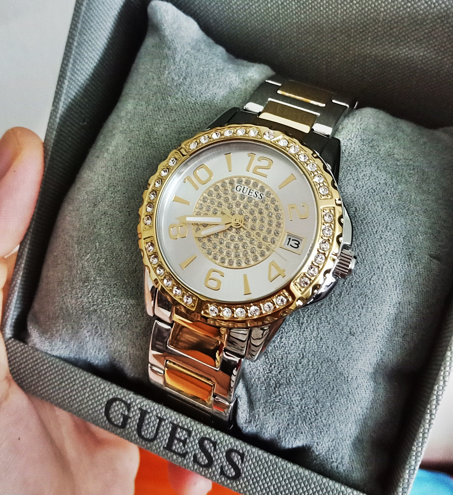 Guess U0779L4 Crystal Casual Silver/Gold Watch