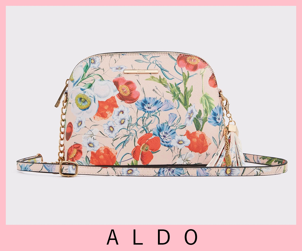 Aldo Elroodie Top Zip Crossbody Handbag Multi Floral