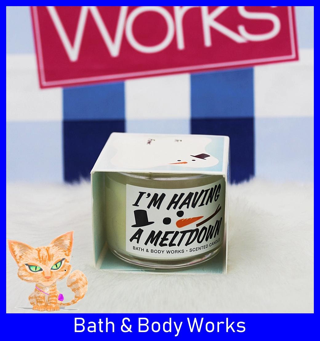 Bath & Body Works Mini Candle Vanilla Snowflake