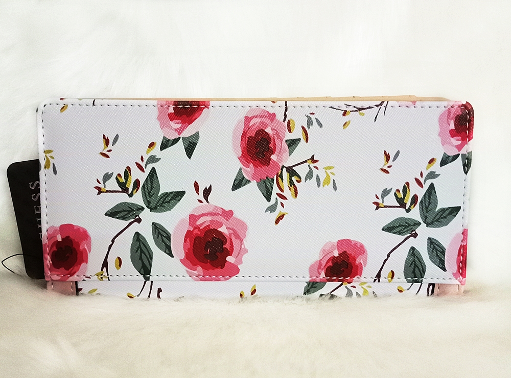 Guess Andover Bifold Women Wallet White Floral