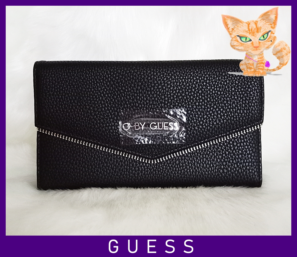 Guess Yardham Trifold Women Wallet Black