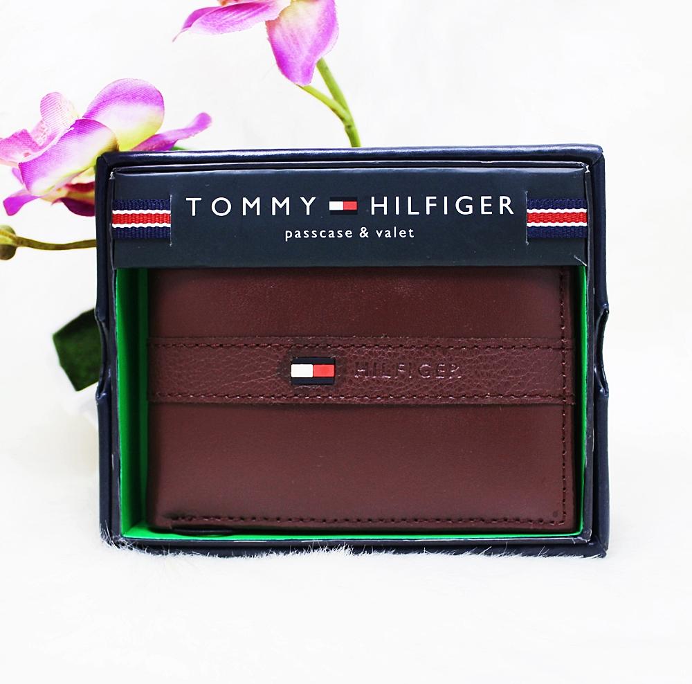 Tommy Hilfiger Ranger Passcase Men Wallet Burgundy