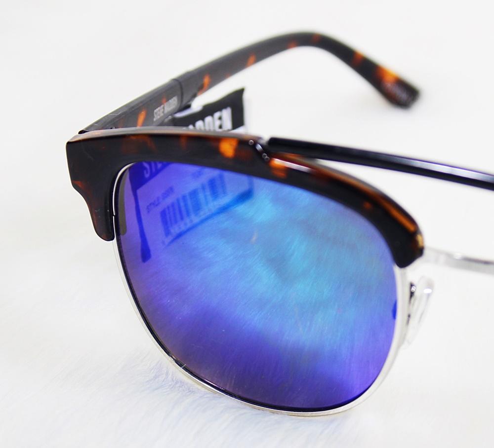 Steve Madden Clubmaster Tortoise Black Sunglasses