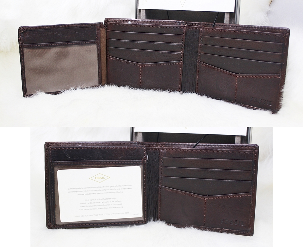 Fossil Ingram Traveler Men Wallet Brown