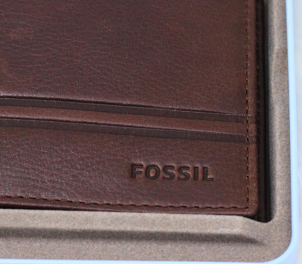 Fossil Watts Flip Bifold Wallet Dark Brown