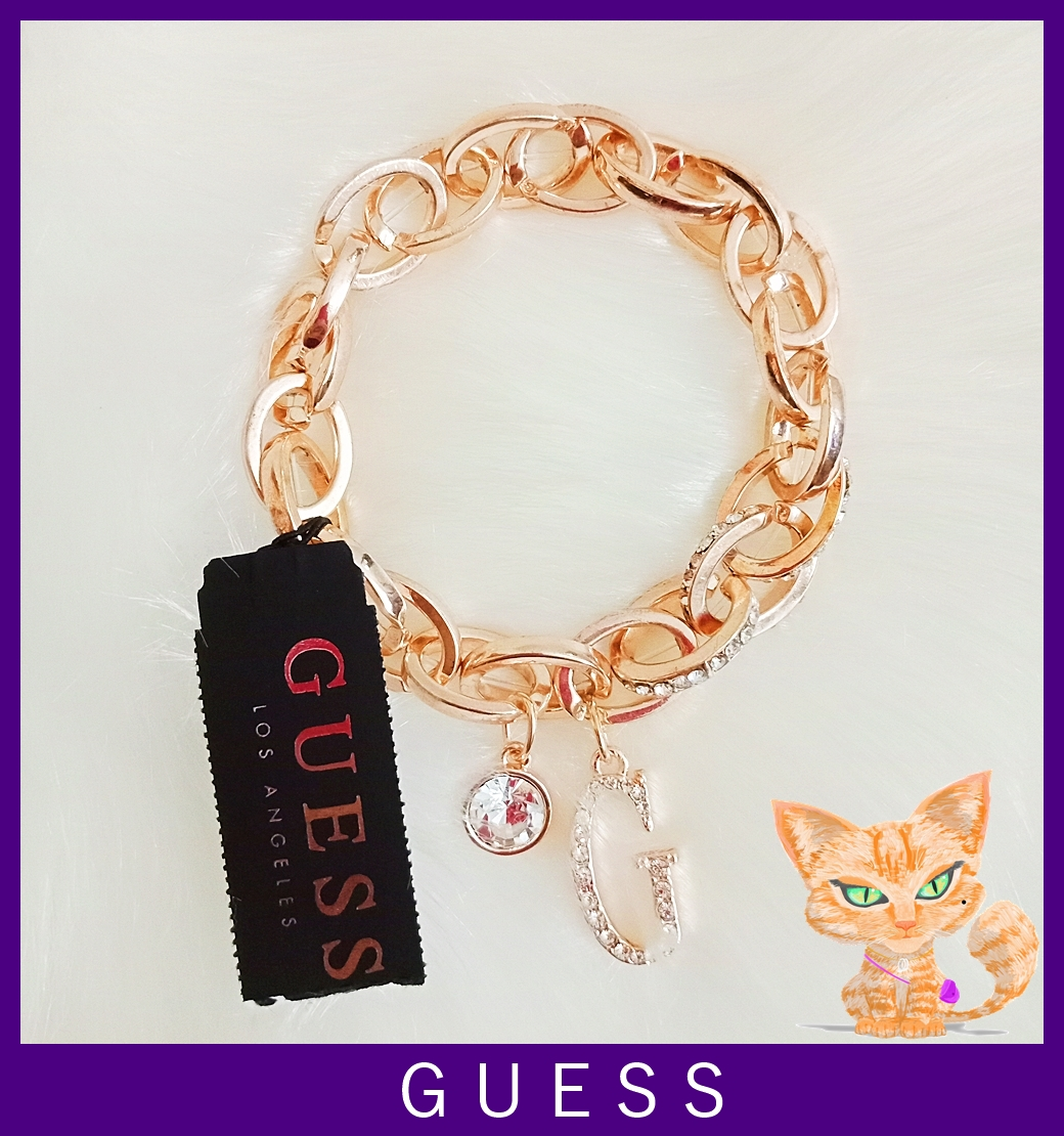 Guess Stretch Link Bracelet Rose Gold