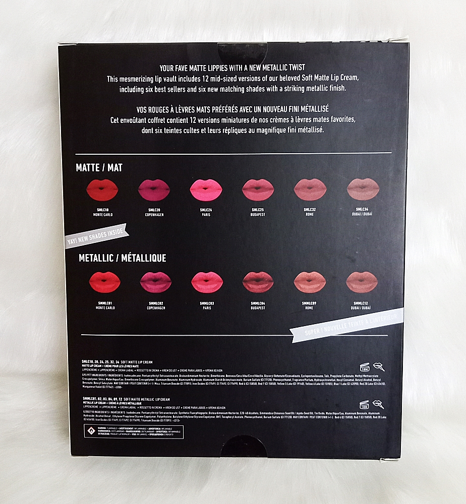 NYX Meet The Metallics Lip Cream Vault Set 12pc