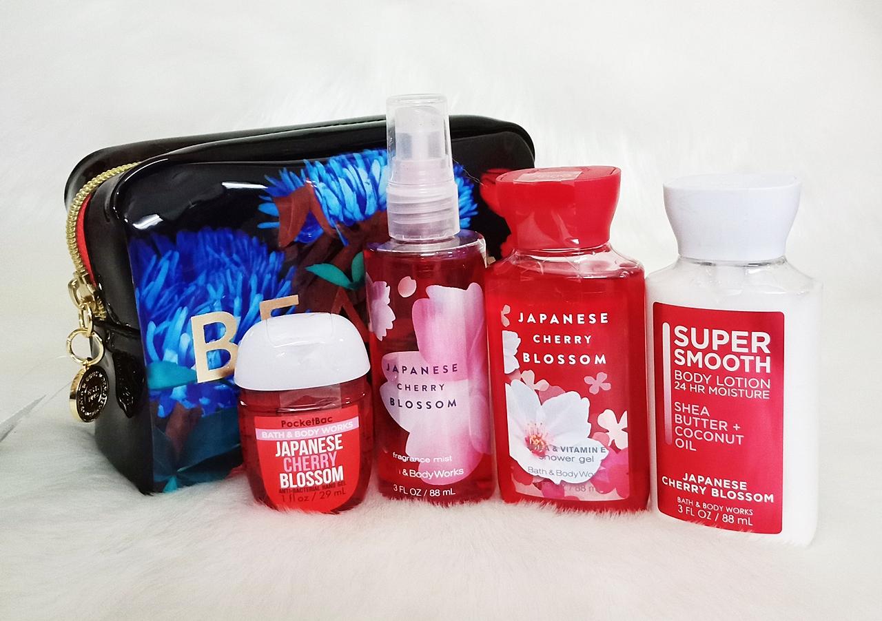 Bath & Body Works Japanese Cherry Blossom Floral Gift Set 5pc