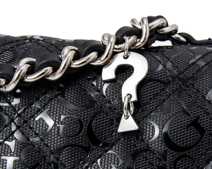 Guess Logo Dominique Crossbody Bag Black