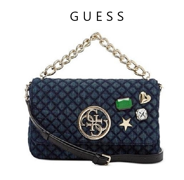 Guess G Lux Denim Crossbody Handbag