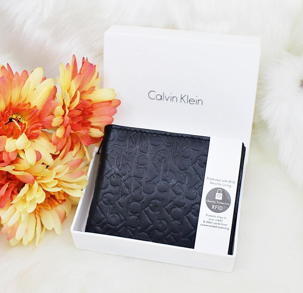 Calvin Klein Monogram RFID Coin Wallet Black