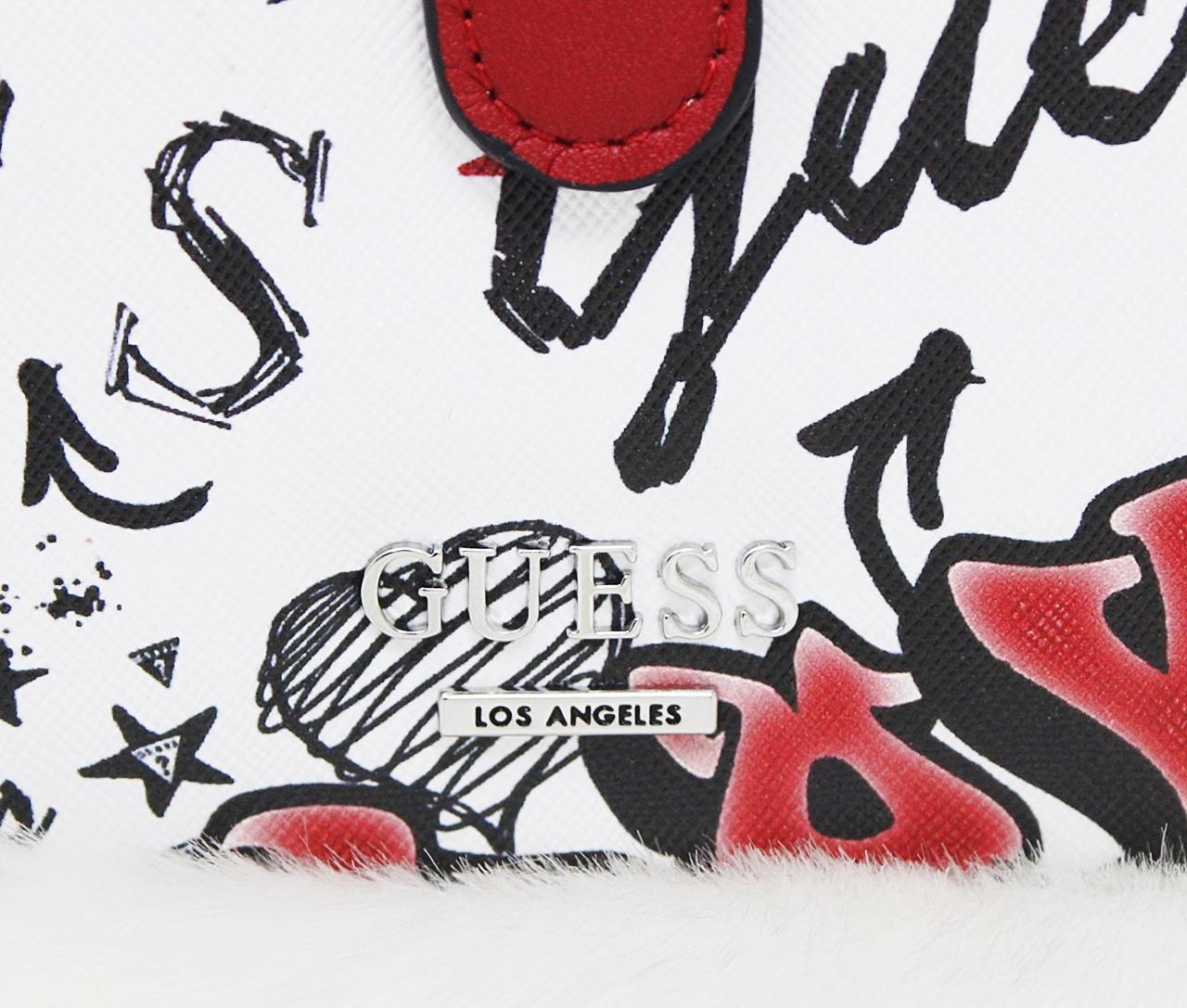 Guess Felton French Medium Wallet Red Graffiti