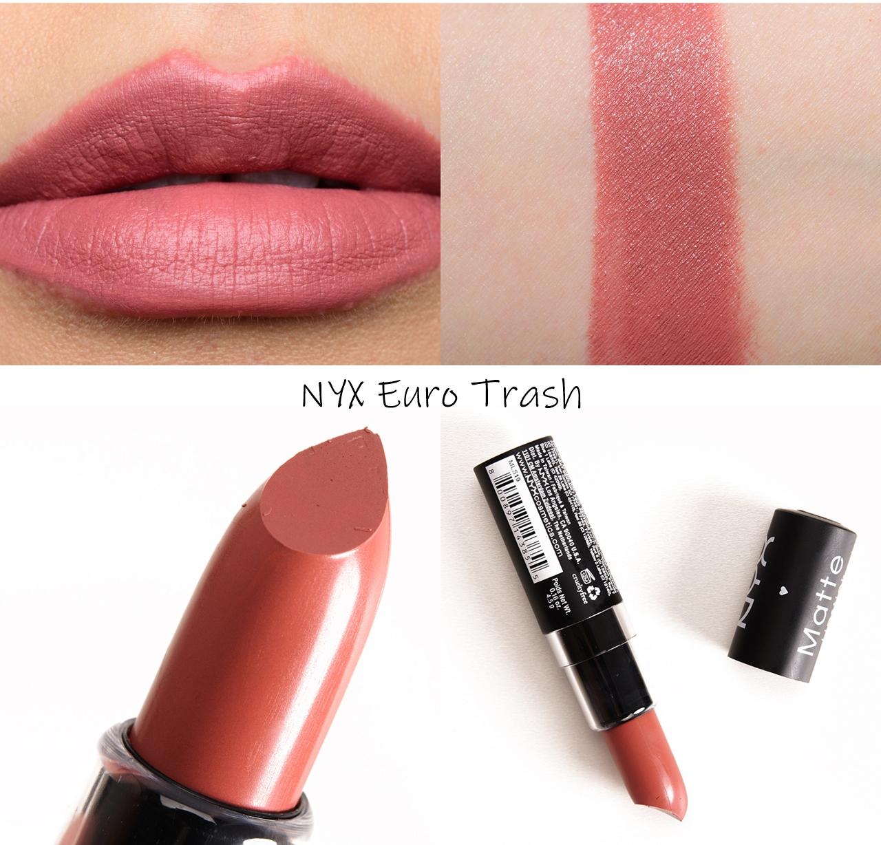 NYX Matte Lipstick Euro Trash