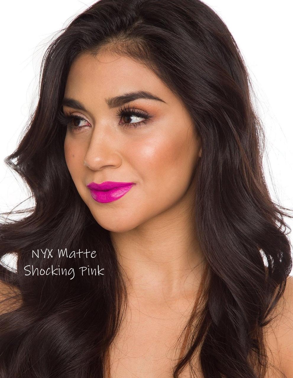 NYX Matte Lipstick Shocking Pink