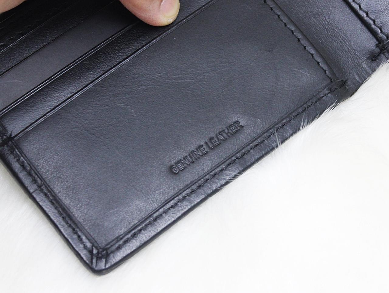 Guess Lee Stitching Men Wallet Black