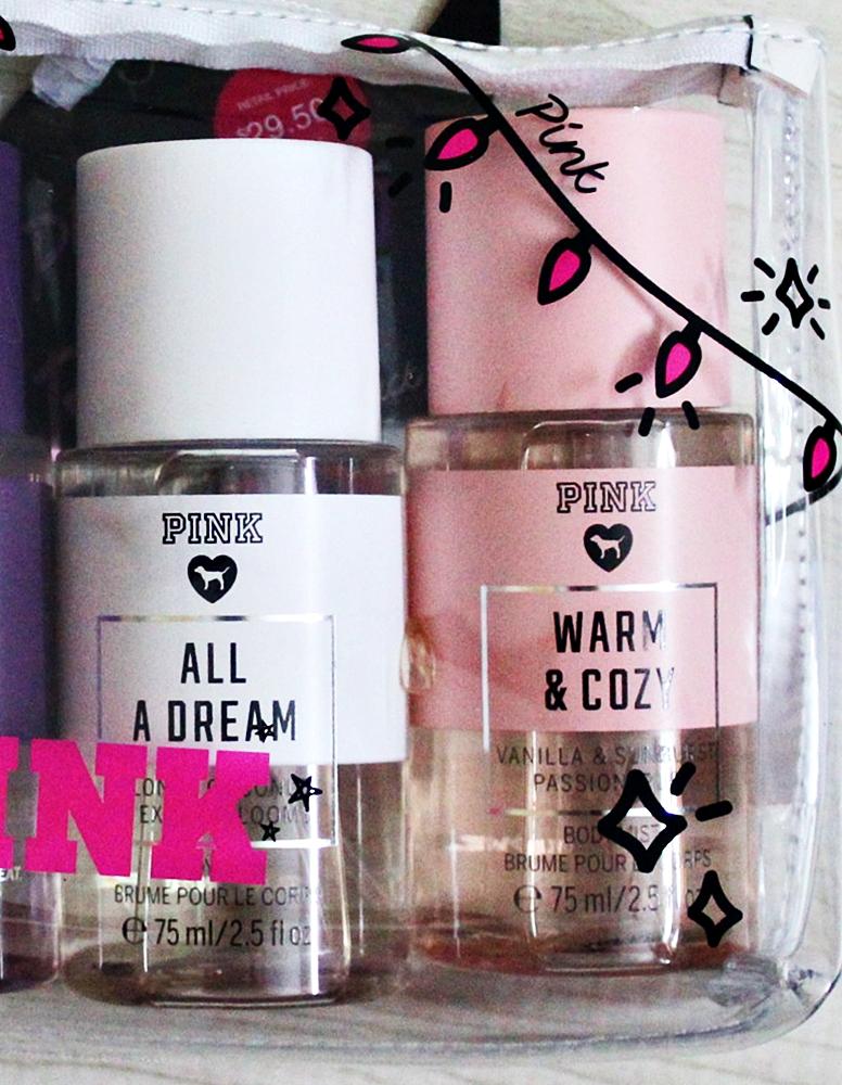 Victoria's Secret Pink Travel Body Mist Pack Gift Bag Set