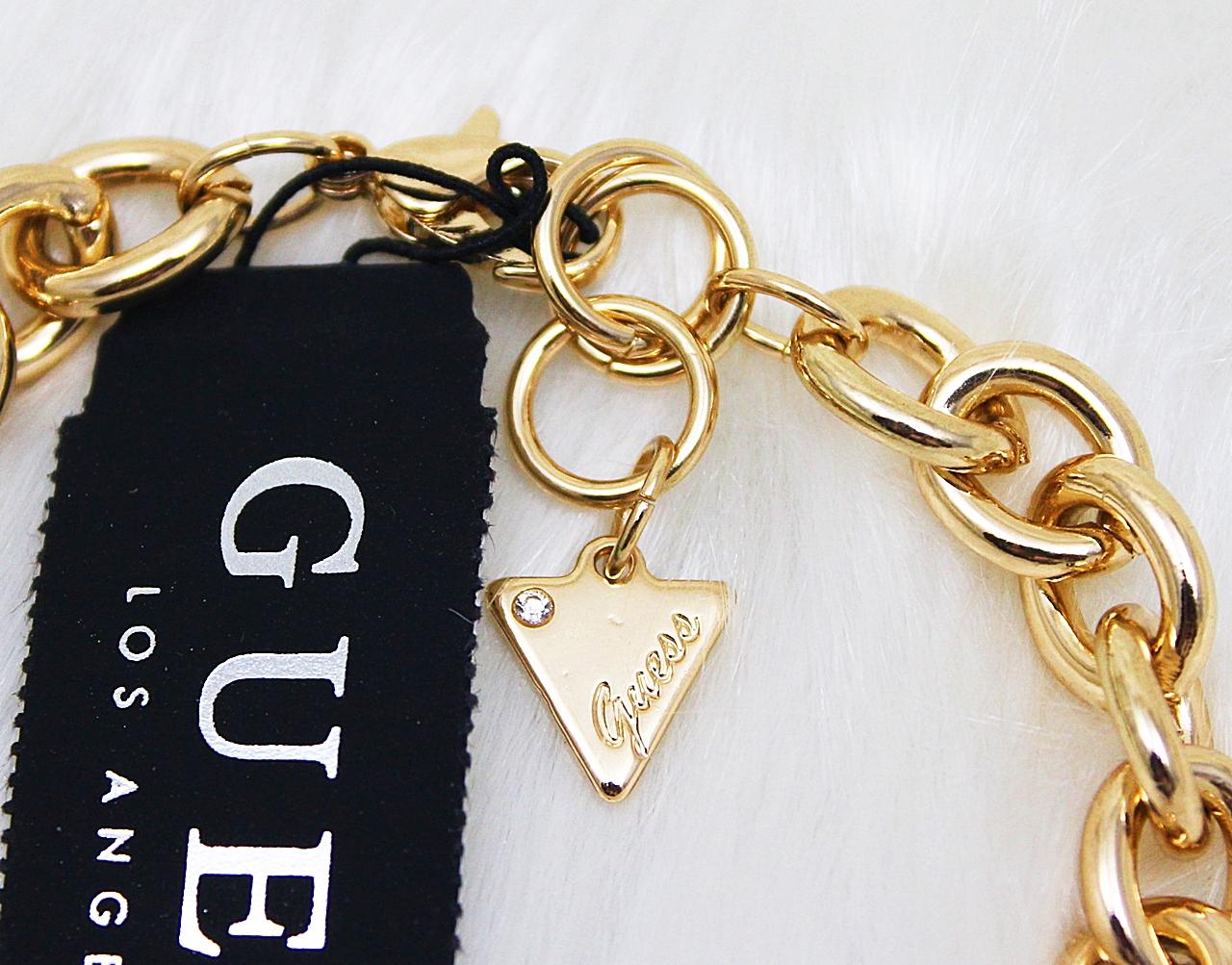 Guess Enamel Coin Charms Bracelet Gold