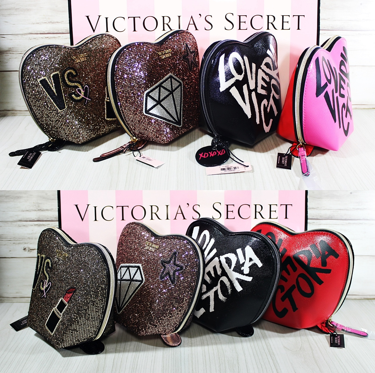 Victoria's Secret Heart Cosmetic Travel Makeup Case