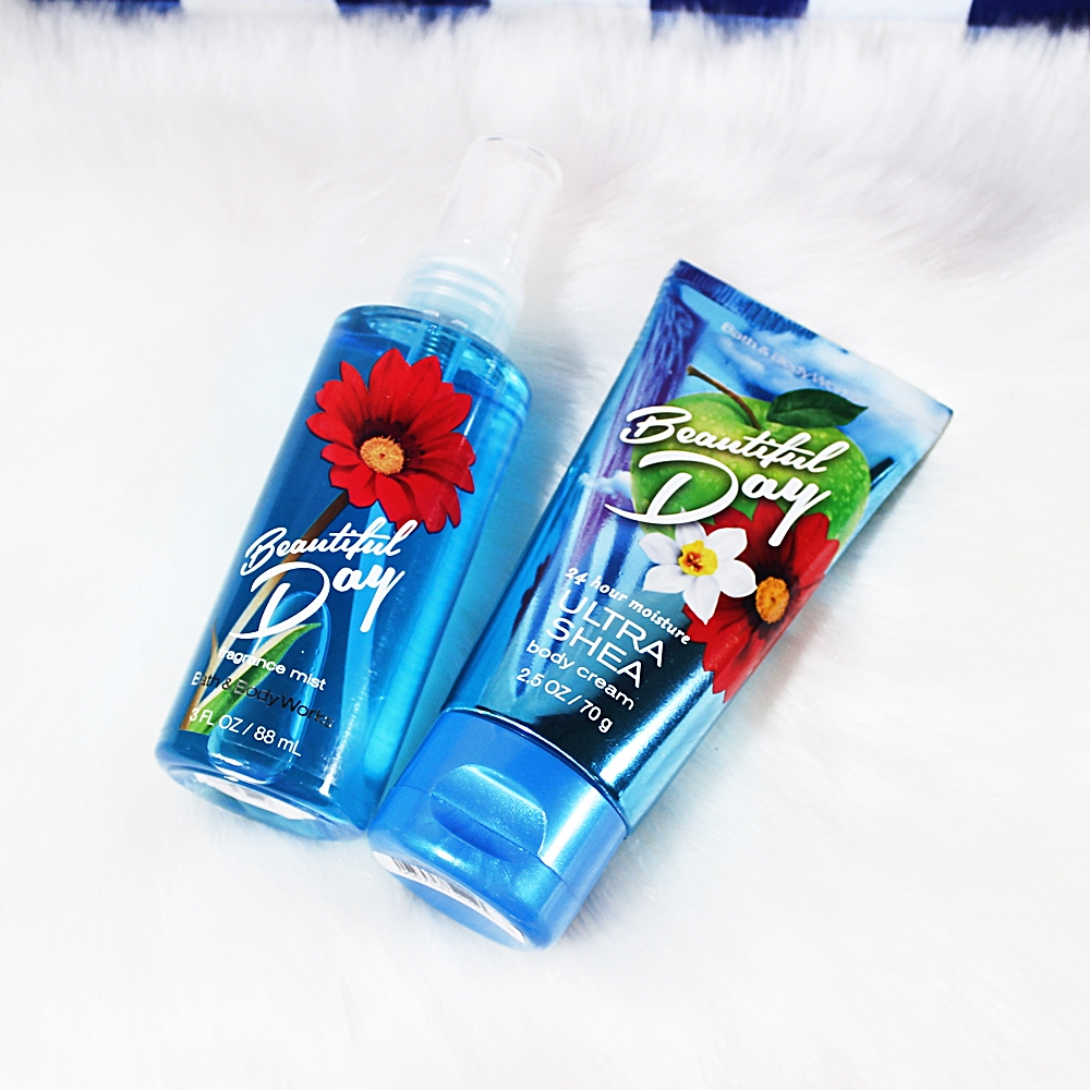 Bath & Body Works Travel Beautiful Day Mist Body Cream 2pc Set