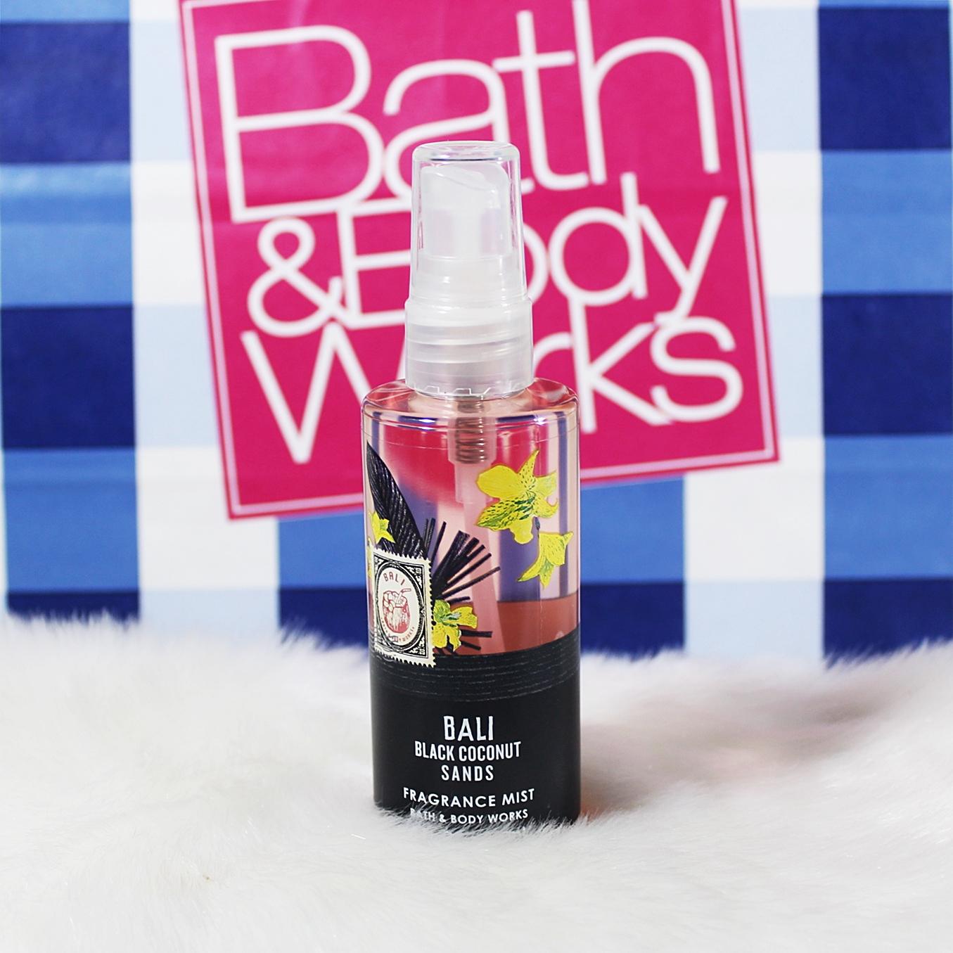 Bath & Body Works Bali Black Coconut Sands Travel Body Mist