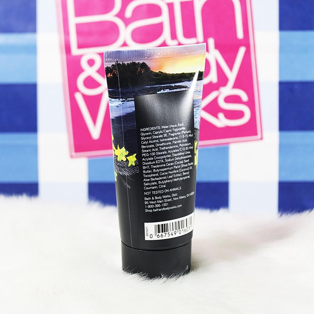 Bath & Body Works Bali Black Coconut Sands Travel Body Cream