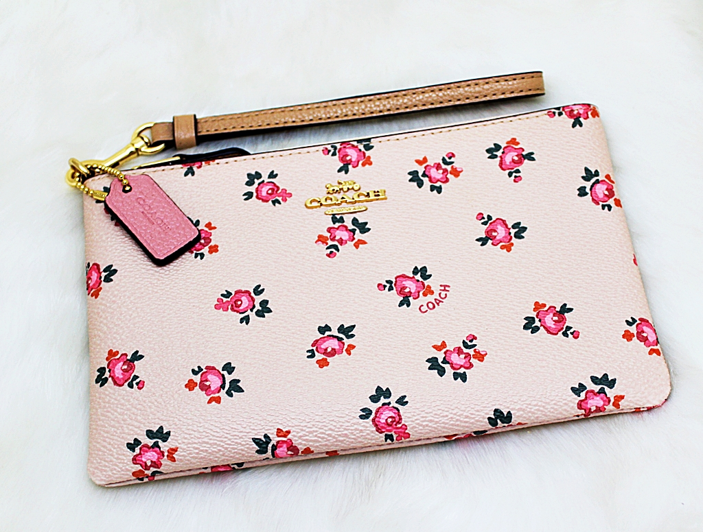 Coach F27094 Bechwood Floral Bloom Print Wristlet